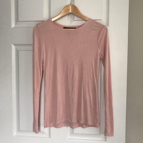 White House Black Market Tops - WHBM Pale Pink Long Sleeve Shirt XS
